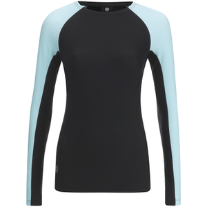 Skins A200 Womens Thermal Long Sleeve Compression Round Neck Top - Black/Glacier