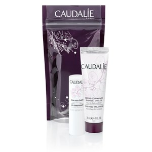 Caudalie Winter Duo - Lip Conditioner and Hand Cream (30ml) - Worth £8.00
