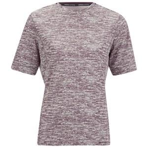 adidas Women's Supernova Short Sleeve Running T-Shirt - Burgundy