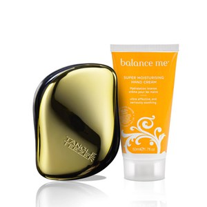 Balance Me & Tangle Teezer Gold Set (Worth £26.75)