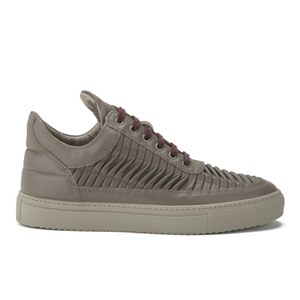 Filling Pieces Men's Twist Stitched Low Top Trainers - Taupe