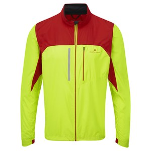 RonHill Men's Vizion Windlite Jacket - Yellow/Red