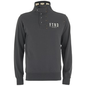 Firetrap Men's Acland Funnel Neck Sweatshirt - Dark Shadow