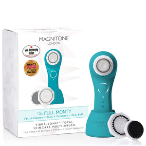 Magnitone London The Full Monty! Vibra-Sonic™ Daily Skincare Brush - Electric Blue