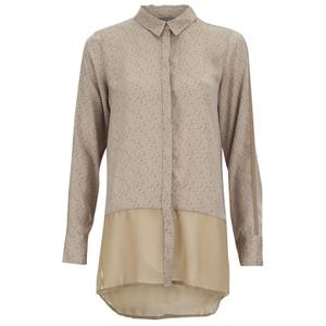 Vero Moda Women's Lotus Long Sleeve Long Shirt - Silver Mink