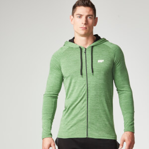 Myprotein Performance Zip Hoodie Herr - Green Marl
