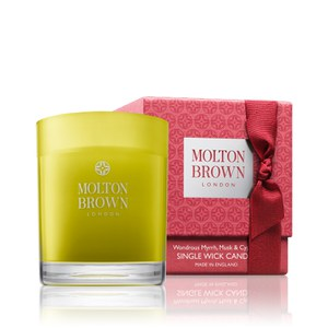 Molton Brown Wondrous Myrrh, Musk and Cypress Single Wick Candle Christmas Edition