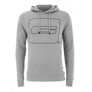 Jack & Jones Men's Core Logo Sweat Hoody - Light Grey Melange