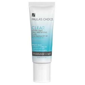 Paula's Choice Clear Ultra-Light Daily Mattifying Fluid SPF 30+ - Trial Size (15ml)