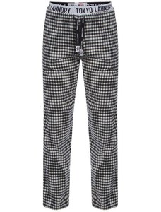 Tokyo Laundry Men's Johnston Small Check Flannel Loungepants - Midnight Blue