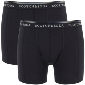 Scotch & Soda Men's Allover Printed Boxer Shorts - Black