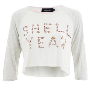 MINKPINK Women's Shell Yeah Crop T-Shirt - Multi