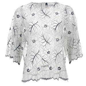 Ganni Women's Lace Blouse - Vanilla Ice