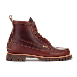 Yuketen Men's Leather Angler Lace-Up Boots - Brown