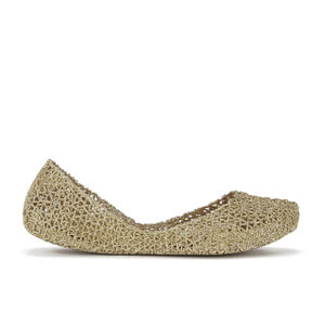 Melissa Women's Campana Papel 15 Ballet Flats - Soft Gold Glitter
