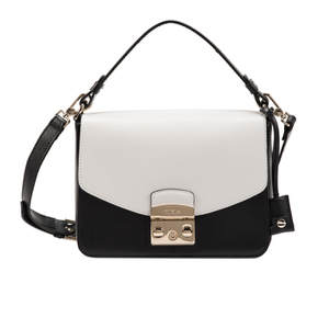 Furla Women's Metropolis Shoulder Bag - Black/White