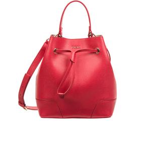 Furla Women's Stacey Drawstring Bucket Bag - Red