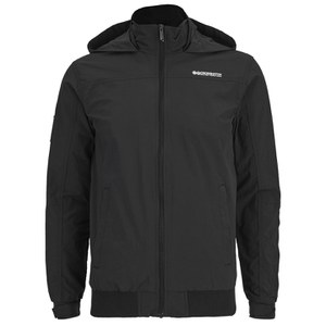 Crosshatch Men's Reflector Zip Through Jacket - Black