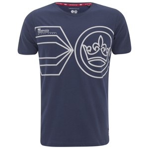 Crosshatch Men's Pegasus Print T-Shirt - Iris Navy