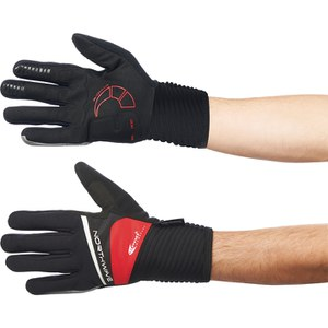 Northwave Sonic Long Finger Gloves - Black/Red