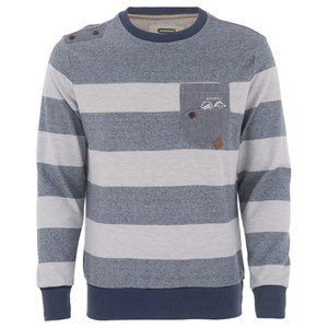 Smith & Jones Men's Casek Striped Sweatshirt - Navy
