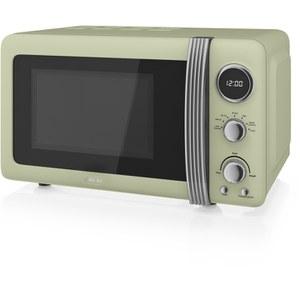 Swan SM22030GN 800W Digital Microwave - Green