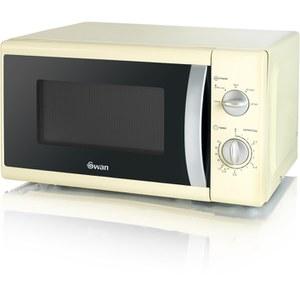 Swan SM40010CREN 800W Solo Microwave - Cream
