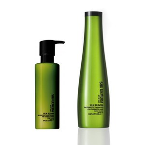 Shu Uemura Art of Hair Silk Bloom Shampoo (300ml) und Spülung (250ml)