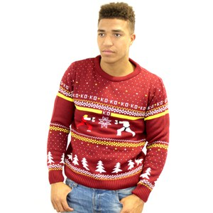 Capcom Street Fighter Ken Vs Ryu Knitted Christmas Jumper