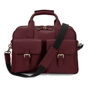 Aspinal of London Men's Harrison Overnight Business Bag - Burgundy