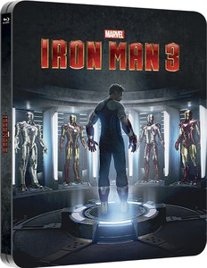 Iron Man 3 3D (enthält 2D Version) - Zavvi exklusives (UK Edition) Lentikular Edition Steelbook