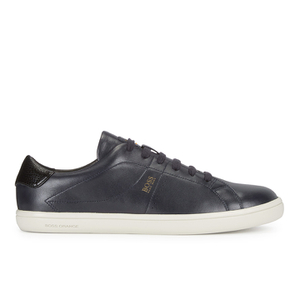 BOSS Orange Men's Souta Leather Trainers - Dark Blue