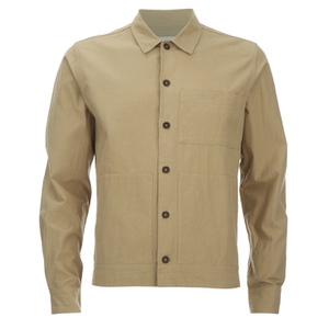 Universal Works Men's Slub Japanese Cotton Uniform Shirt - Camel