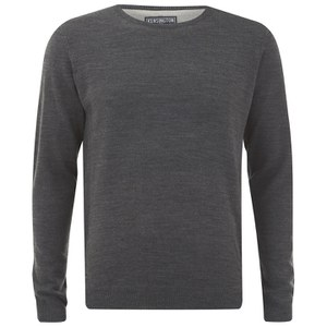 Kensington Eastside Men's Burrow Crew Neck Jumper - Charcoal Marl
