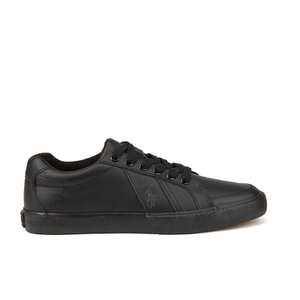 Polo Ralph Lauren Men's Hugh Leather Trainers - Black