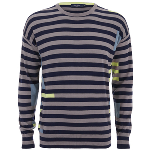 Paul Smith Jeans Men's Merino Plated Crew Neck Knit - Navy
