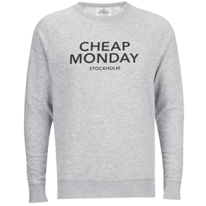 Cheap Monday Men's Rules Logo Sweatshirt - Grey Melange