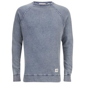 Cheap Monday Men's Rules Denim Sweatshirt - Stone Blue