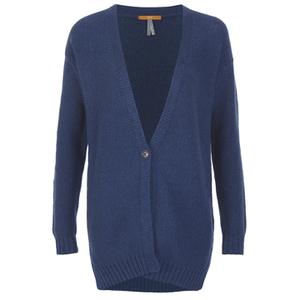 BOSS Orange Women's Wirele Knitted Cardigan - Dark Blue