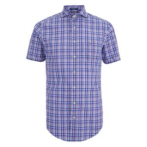 GANT Men's Albatross Cotton Linen Short Sleeve Shirt - Pale Pansy