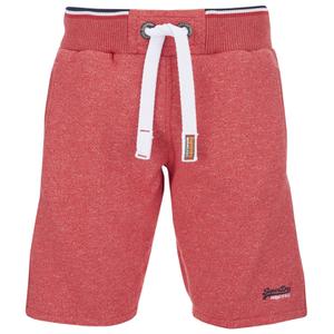Superdry Men's Orange Label Tri Grit Sweat Shorts - Red Slub