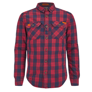 Superdry Men's Rookie Flannel Shirt - Red