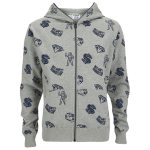 Billionaire Boys Club Men's Full Coverage Hoody - Heather Grey