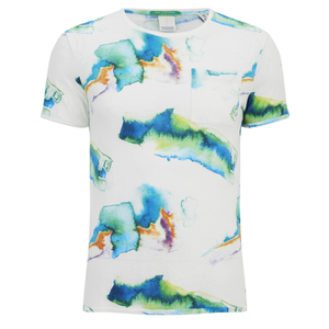 Scotch & Soda Men's Printed Pocket T-Shirt - White
