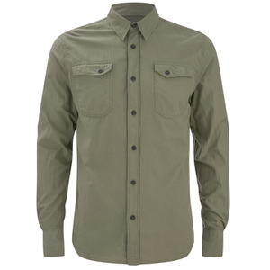 Nudie Jeans Men's Gunnar Long Sleeve Shirt - Olive