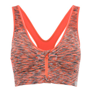 Brassière de sport femme, maintien optimal avec zip MyProtein - Orange