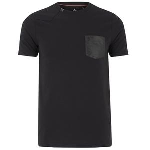 Luke Men's Chump Patch Pocket Detail Crew Neck T-Shirt - Jet Black