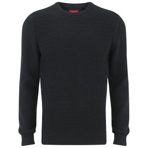 Luke Men's O'Byrne Computer Crew Neck Knitted Jumper - Black