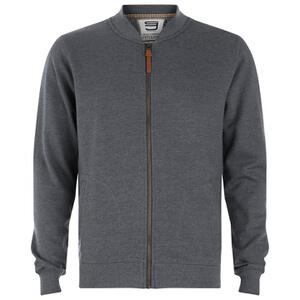 Smith & Jones Men's Brewer Zipped Sweatshirt - Charcoal Marl