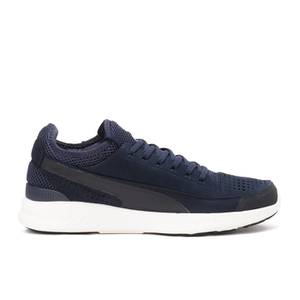 Puma Men's Running Ignite Sock Low Top Trainers - Peacoat/White